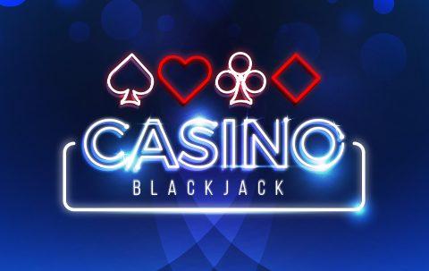 Casino blackjack in neon lights